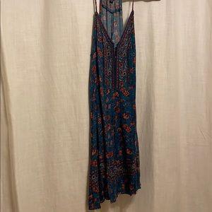 Boho teal dress